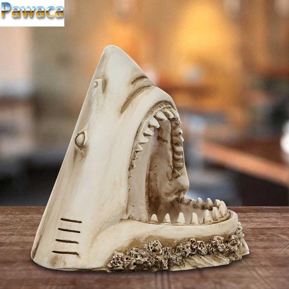 Creative Home Ornament Resin Simulation 3D Retro Shark ...