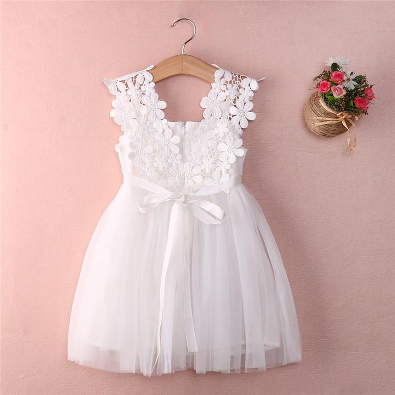 bce7b64b5 Nuevo bebé niño Niñas Ropa de verano ropa de princesa de encaje Flor de tul  vestidos