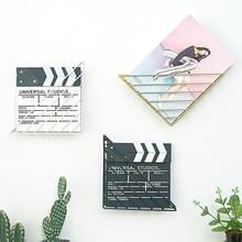 2pcs/lot Black White Gold Metal Triangle Iron Art Desktop Bookshelf Letter Magazine Wall Rack Holder Home Office