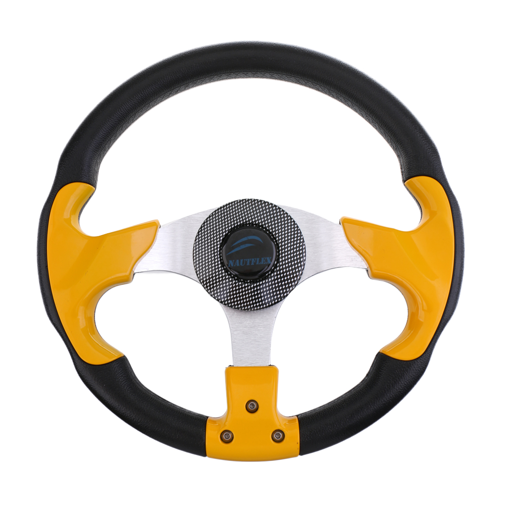 Boat 12 4 315 mm Steering Wheel 3 4 Tapered Shaft Adapter 3 Spoke Non directional