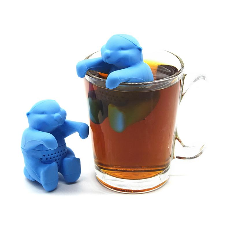1Pcs Silicone Otter Shaped Tea Infuser Reusable Tea Strainer Coffee Herb Filter For Home Loose Leaf Diffuser Accessories