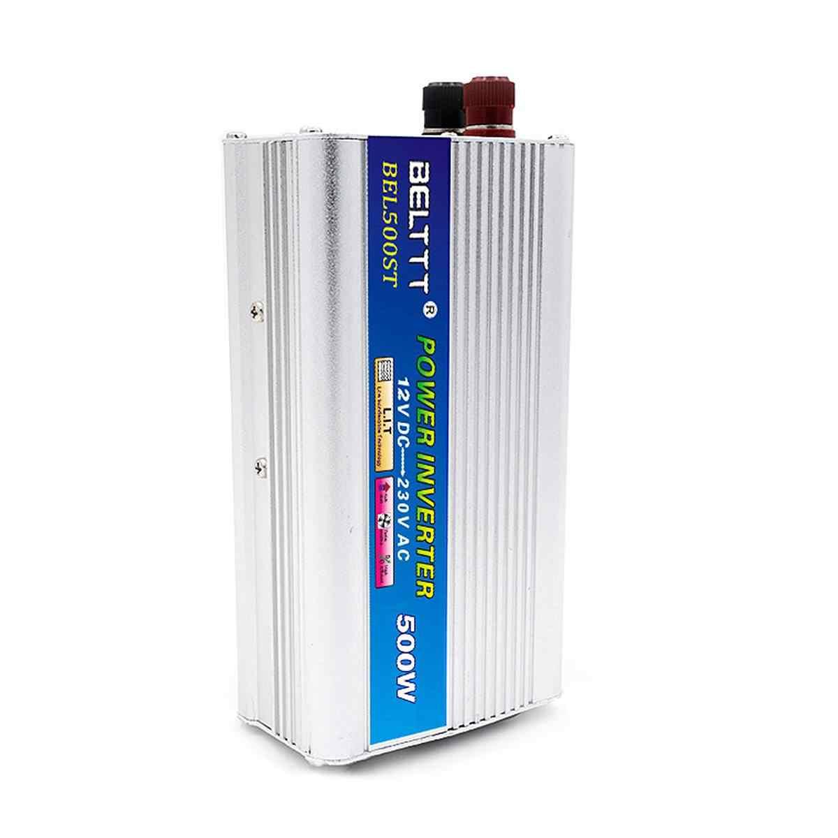 Onduleur solaire 500 W DC 12 V à AC 230 V onduleur de voiture avec convertisseur à onde sinusoïdale modifiée allume-cigare