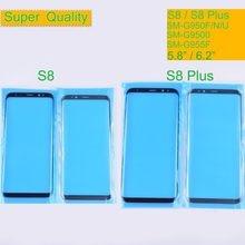 10 unids/lote para Samsung Galaxy S8 G950 G950F S8 Plus G955F pantalla táctil vidrio frontal vidrio exterior de la lente