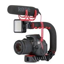 Ulanzi U-Grip Pro мини ручка стабилизатор с тройным холодным башмаком камера смартфон видео Портативный шарнирный держатель для DSLR Mobile