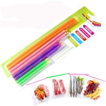 10 paquetes de barra selladora de bolsa mágica, herramientas de refrigeración Anylock y equipo, clip de sellado de bolsa de alimentos, palo de bloqueo fresco, embalaje de regalo