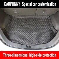 Novo lado de alta Esteiras Mala Do Carro Para Hyundai ix25 i30 ix35 ix45 Car Rear Bota Liner Carga Mat Tronco Tapete|  -