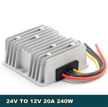 цена на Universal Aviation Aluminum DC 24V Buck Step Down to 12V 240W 20A Car Power Converter Regulator Adapter