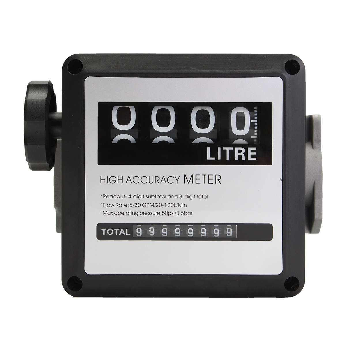 High Accuracy 4 Digital Diesel-Gas Fuel Oil Flow Meter Dispenser Counter Gauge 5-30 GMP/20-120L/Min With Flexible HorizontalHigh Accuracy 4 Digital Diesel-Gas Fuel Oil Flow Meter Dispenser Counter Gauge 5-30 GMP/20-120L/Min With Flexible Horizontal