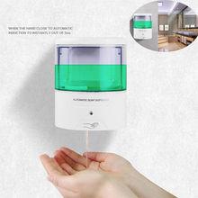 Battery powered 600ml wall mount automático ir sensor dispensador de sabão touch free cozinha bomba de loção de sabão para banheiro de cozinha