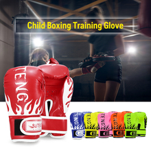 High Quality Kids Professional Training Fighting Gloves Boxing Breathable Safety Kick boxing Leather tool