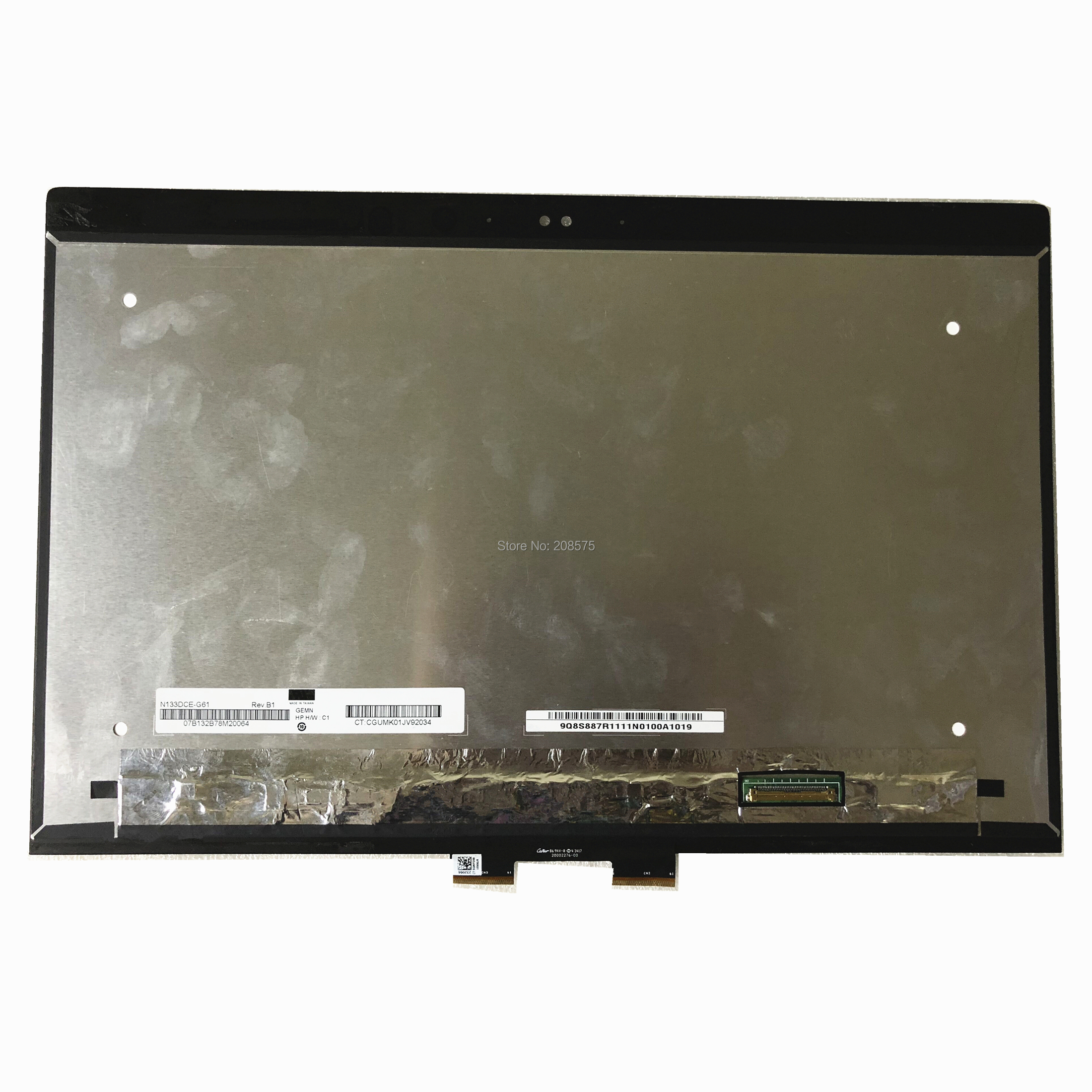 Free Shipping 13.3''LCD LED Touch Screen Digitizer Assembly N133DCE G61 For HP Laptop Lcd Screen 3840*2160 EDP 40 Pins