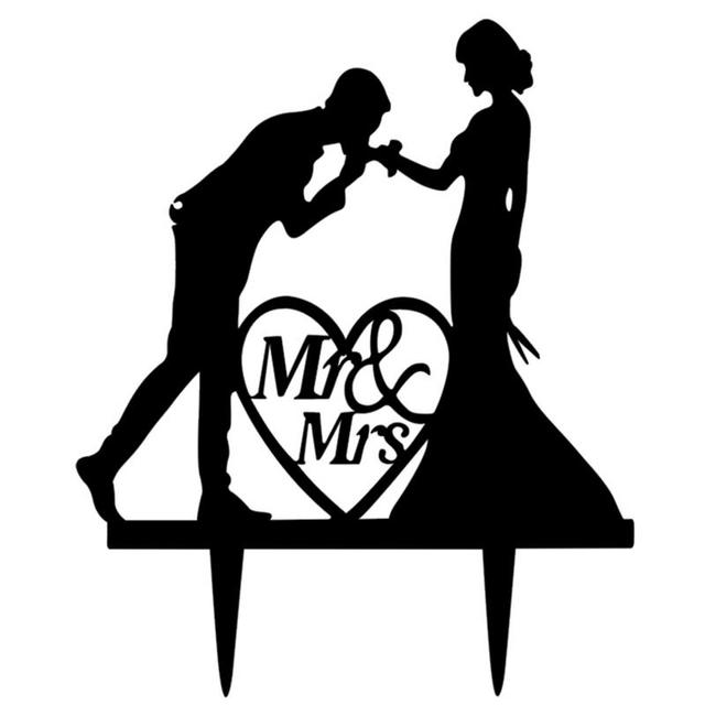 Wedding Cake Topper Bride Boyfriend Mr. Lady Wedding Decorations Acrylic Black Pastel Toppers Mariage Party Supplies Adult