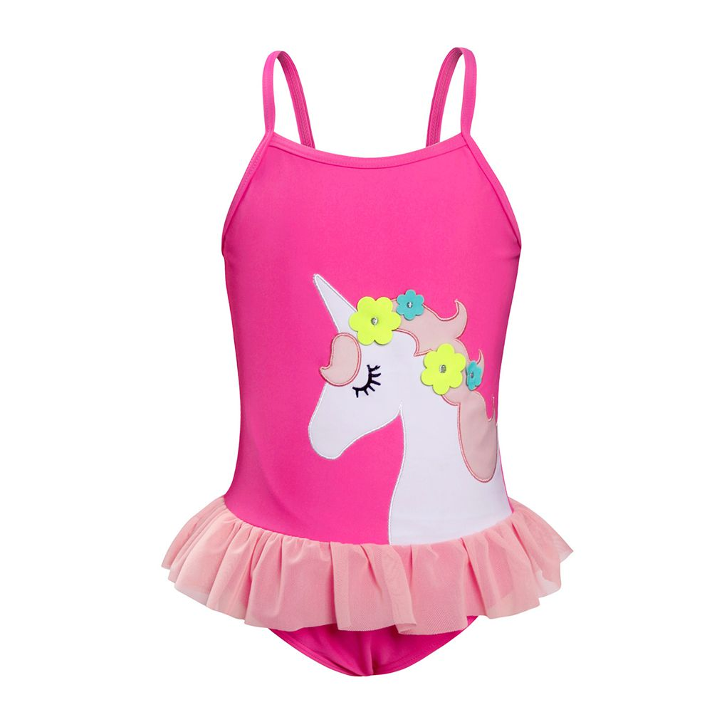 100% True Amzbarley Pink Girls Swimwear 3d Cartoon Unicorn Swimsuit One Piece Bathing Wear Beach Suit Baby Girl Bikini Swimming Wear Good Reputation Over The World Swimwear