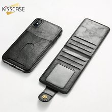 Get more info on the KISSCASE Leather Phone Wallet Holder Stand Case For iPhone X XS 8 7 6 6s Plus Phone Flip Wallet Holder Covers Fundas Coque Capa