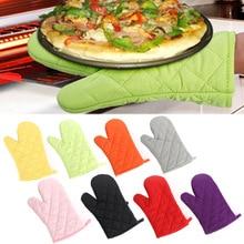 Горячая высокотемпературные толстые термоизоляционные перчатки для микроволновой печи кухонные принадлежности 1 шт. профессиональные однотонные Прихватки из хлопка