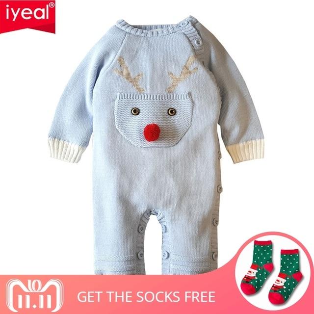 51d6b8b20 IYEAL Cartoon Deer Christmas Baby Rompers Winter Boys Costume Girls ...