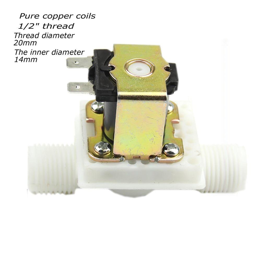 Heimwerker Neue Dc12v/dc 24 V/ac220v Kunststoff Elektrische Magnetische N/c Magnetventil Stromlos Wasser Einlass Fluss Schalter Top Qualität