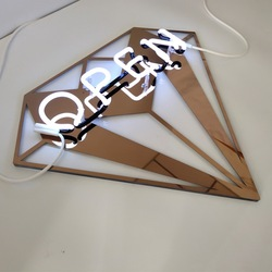 High brightness open sign led neon sign letter for shop sign bar sign