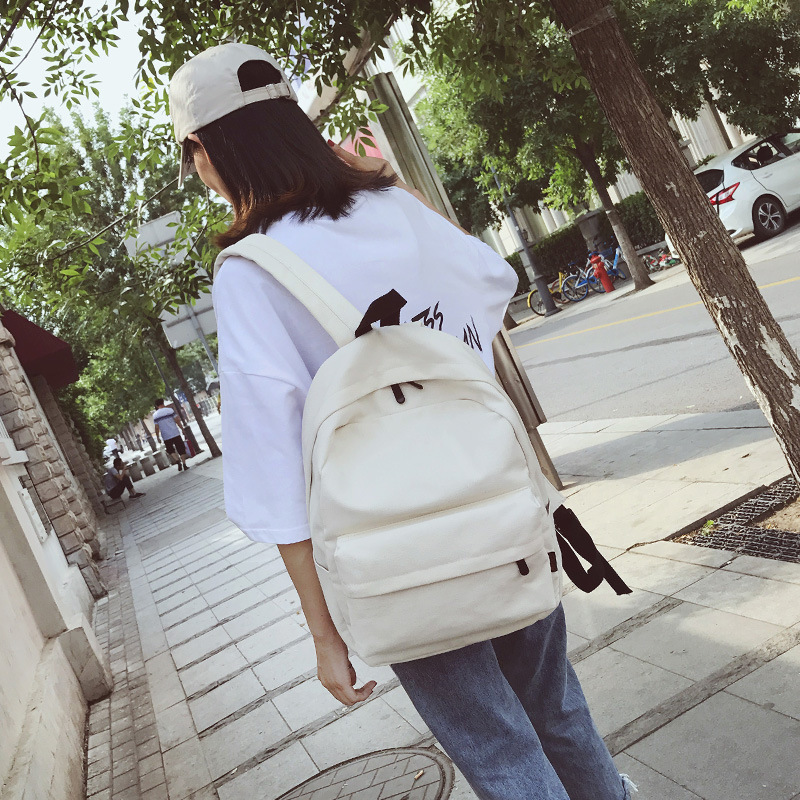 2019 Female High Quality Canvas Travel Backpack Women Mochila Feminina Sac A Dos Back Pack School Bags For Teenage Girl Rucksack