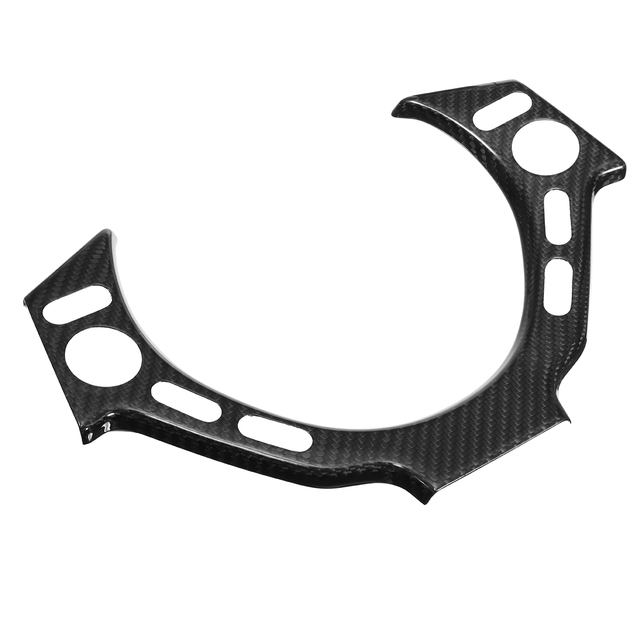 New Real Carbon Fiber Car Steering Wheel Center Trim Cover Steering Wheel Center Protector For NISSAN For GTR GT R R35 2009-2016 3