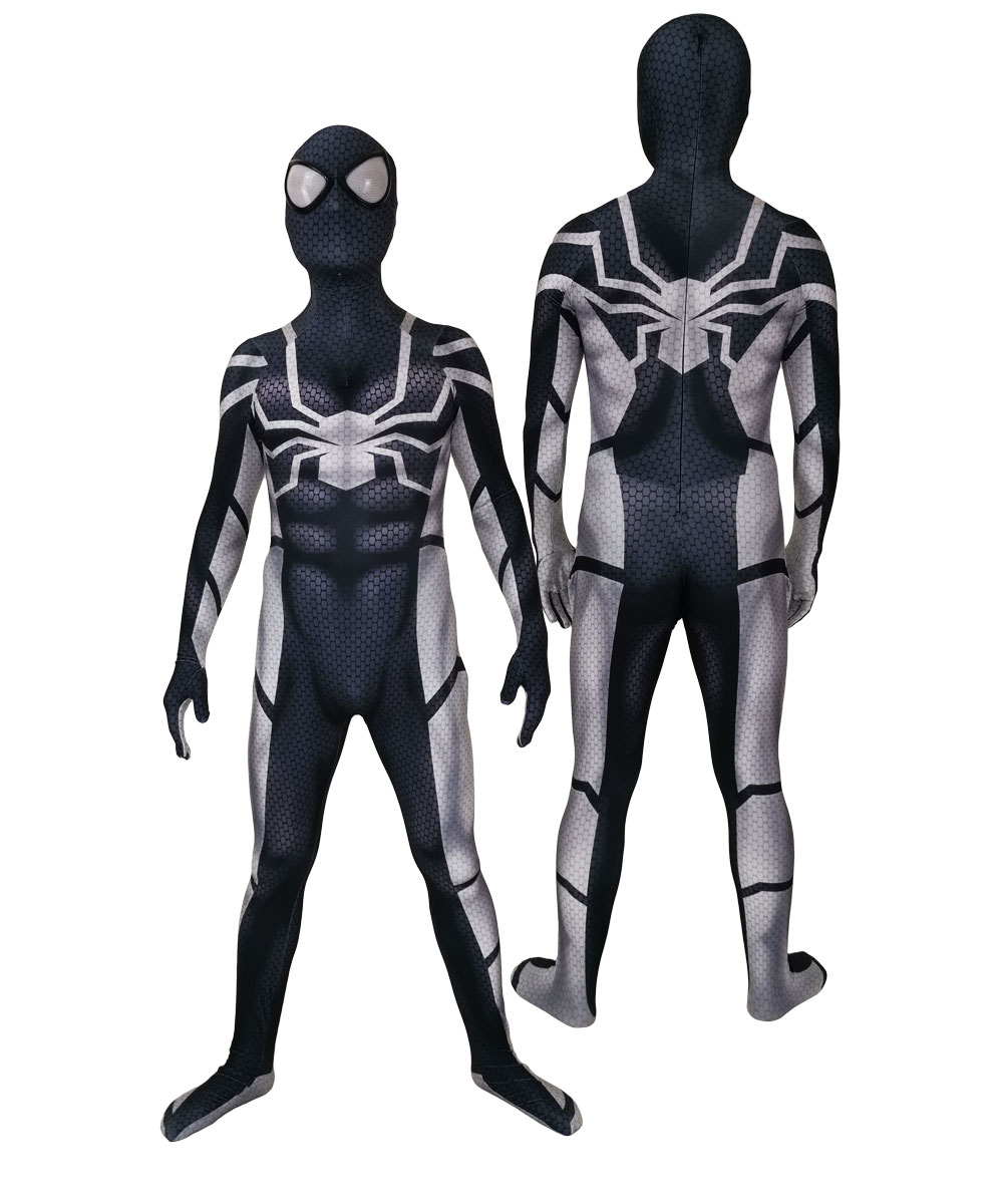 3D Printed Stealth Future Fundation Spiderman Halloween Party Cosplay Spider Man Costumes Jumpsuits Lycra Superhero Suit