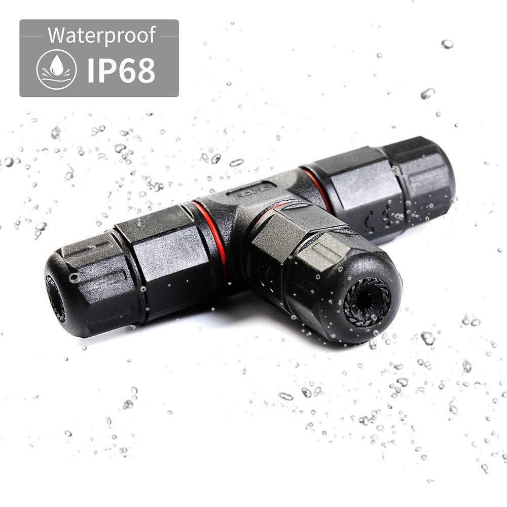 1 sztuk wodoodporne złącze 3 Pin IP68 250 V 20A elektryczne drutu kabel słoneczny ogród na zewnątrz Sealed opóźniające skrzynka przyłączeniowa