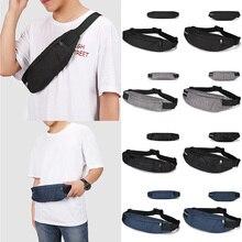 Men Waterproof Waist Packs Travel Phone Belt Pouch Oxford Cloth Sport Waist Bag Pack Purse Black Adjustable Men Casual Bags цена и фото