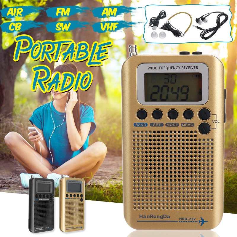 Plein Bandes Portable Numérique AIR/FM/AM/CB/SW/radio vhf LCD Stéréo Mini Récepteur Multifonction professionnel Hors route Passionnés