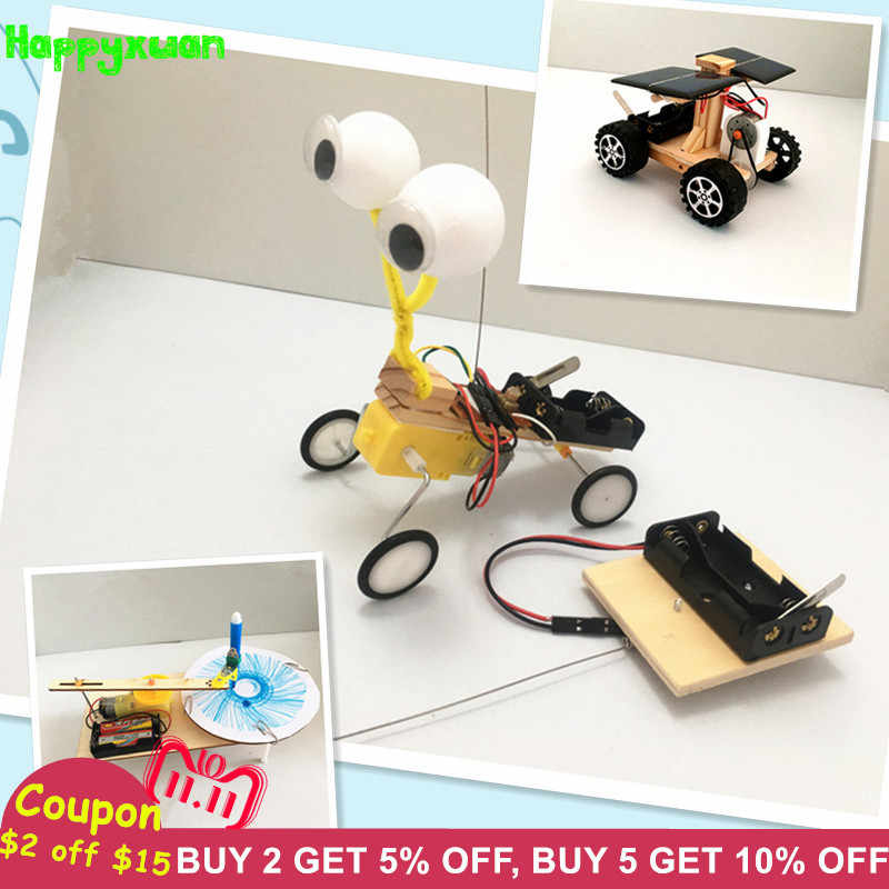 Happyxuan 3 sets Children DIY STEM Education Kits Science Experiments  Materials School Project Robot Creative Toy Boy 6 Years