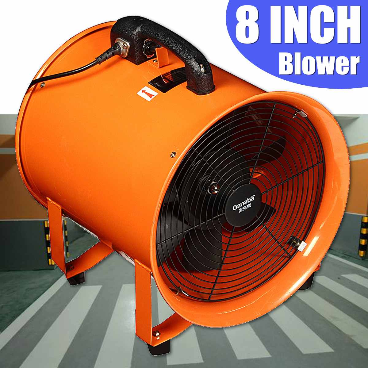 8'' Industrial Ventilator Fan Blower Extractor Portable ...