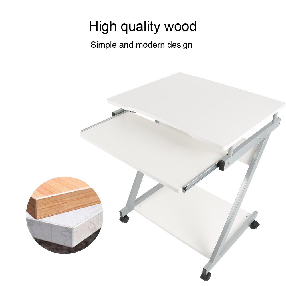 High Quality Computer Desk Laptop Pc Notebook Table Removable Wooden With Wheels For Home Office Funiture Supplies Hwc