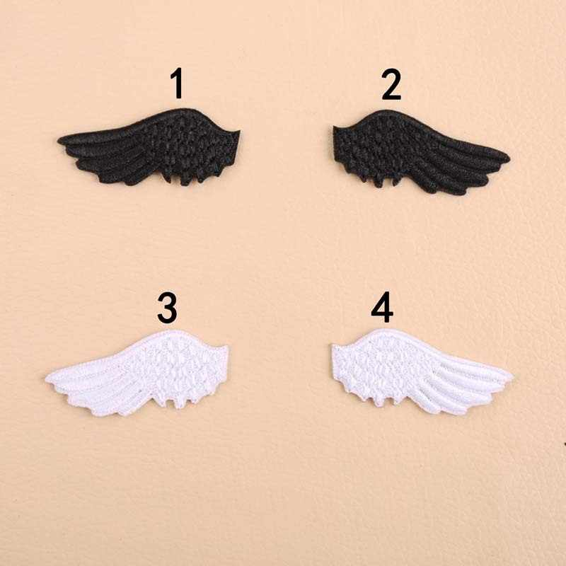 PGY 1pcs Cartoon Angel wings Sewing Patch T-Shirt  Adhesive  Applique Embroidery Patch DIY Clothing Accessory Backpack Patches