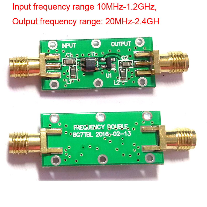 Double Frequency Multiplier Input 10MHZ to 1.2GHz Output 20 MHZ to 2.4 GHz RF FOR Ham Radio Amplifiers image