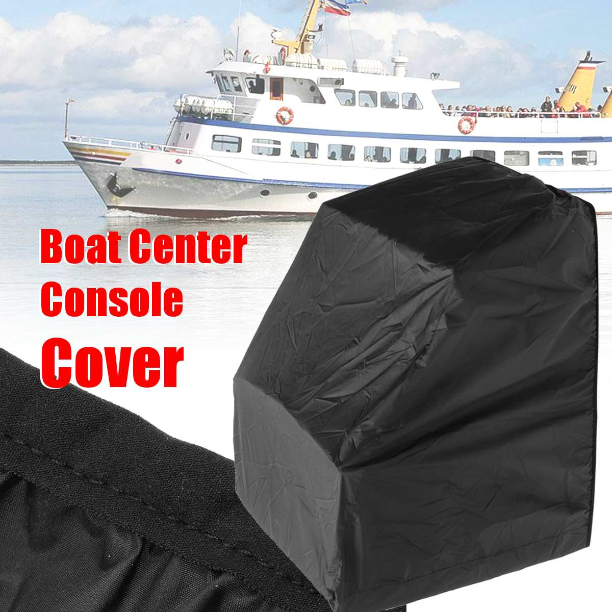"Silver Waterproof Heavy Duty Boat Center Console Cover Protection 45/""H*46/""W*40/""D"