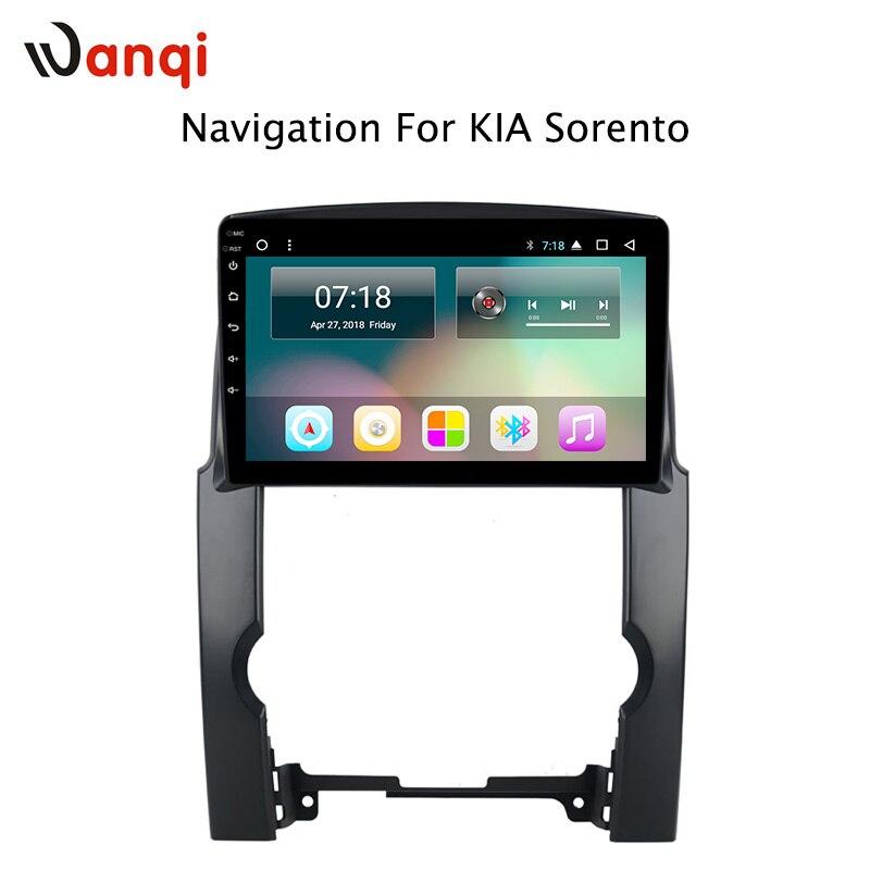 10.1 pouce HD LED Plein Écran Tactile Android 8.1 GPS Système de Navigation pour Kia Sorento 2009-2012 Stéréo avec bluetooth