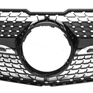 Image 4 - Nero/Cromo X204 Diamante Auto Griglia Paraurti Anteriore Griglia Della Griglia Per Mercedes Per Il Benz GLK X204 GLK250 GLK300 GLK350 2013 2015