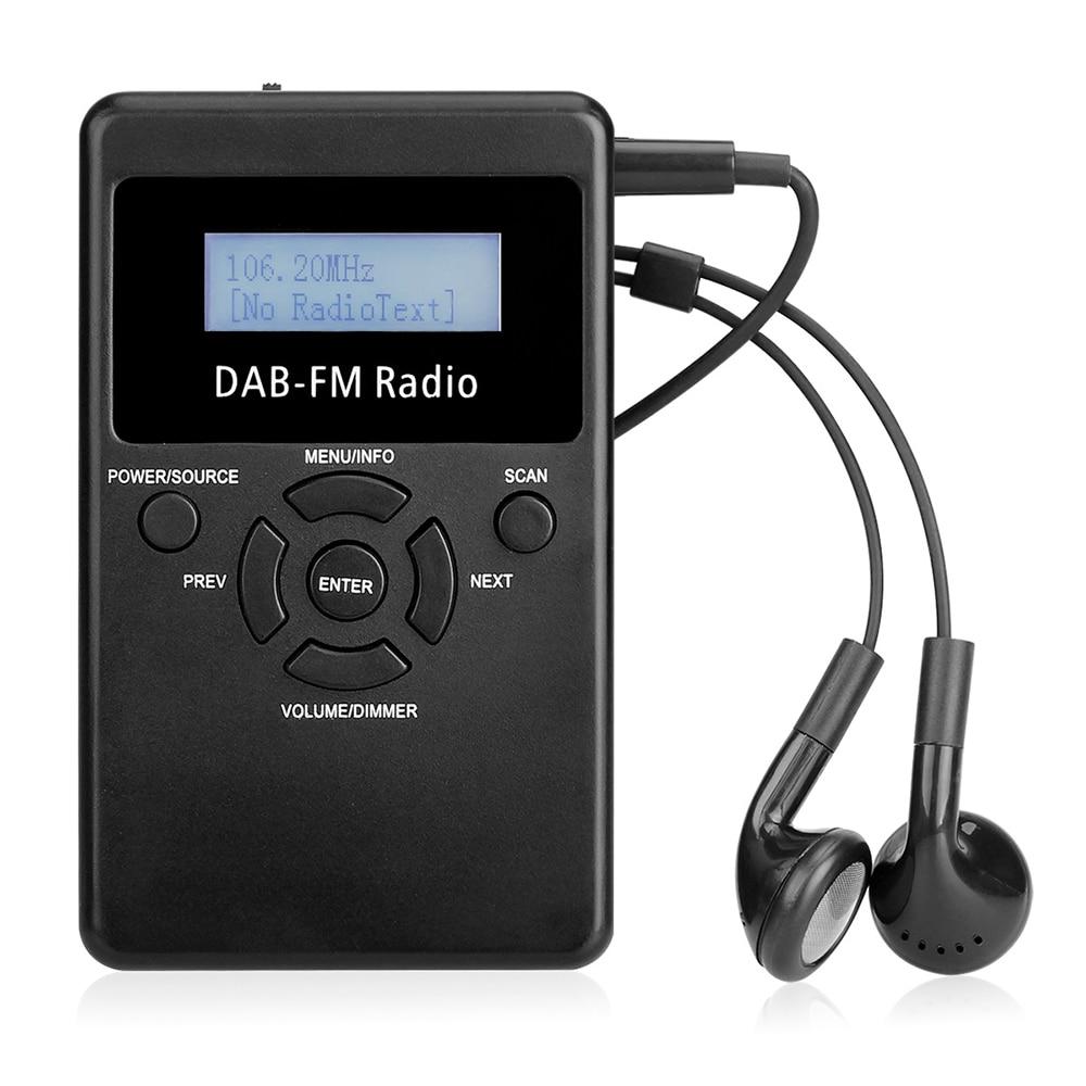 Hrd-101 Tragbare Digitale Dab Fm Rds Radio Tasche Digitale Tupfen Stereo Verlustfreie Empfänger Mit Kopfhörer Lanyard 1,2 display Bildschirm Unterhaltungselektronik