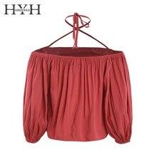 HYH Haoyihui Fashion Tps Restoring Ancient Ways Off Shoulder Cross Sling Streetwear Harbour Breeze Shirt Women Girl Freeshipping