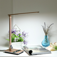 Touch Sensitive Control LED Desk Lamp 8.5W 500LM 3Color Stepless Adjustable Eye Care Ultrathin Aluminum Alloy Table Light