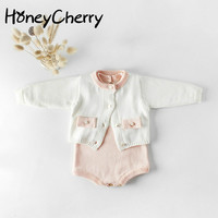 Spring Girls Suits Knitted Jackets Woolen Hat Climbing Clothes Newborn Baby Girl Clothes Baby Set Baby Boy Clothing Set