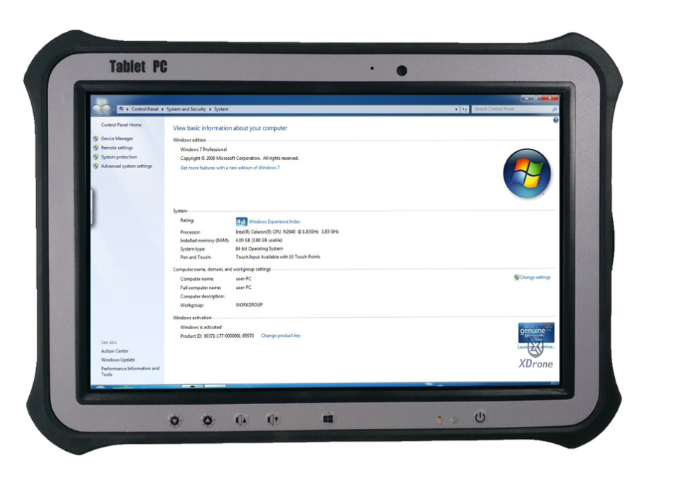 original Kcosit R8 Windows 7 Pro Industrial Tablet PC Linux 10 1 quot Screen Rugged Computer Waterproof 4GB RAM 64GB SSD GPS RS232 in Tablets from Computer amp Office
