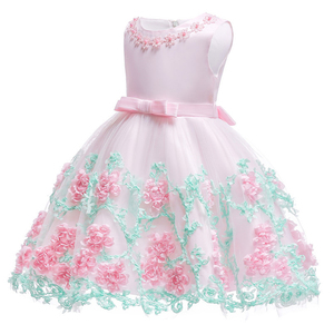Image 2 - 0 24M Baby Girls Infant Party Vestidos Flower Tutu Dresses For Summer Party Baby Girls Clothes Sleeveless Princess Wedding Dress