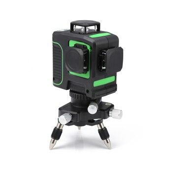 12 líneas 3D láser verde nivel autonivelante 360 líneas horizontales y Cruz vertical línea láser verde equipo de medición