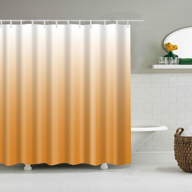 EVA Plain Shower Curtain Divider Scarf Brown Bathroom Blind180 X 180cm