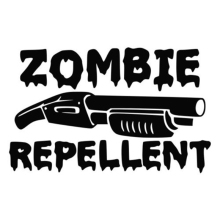 For Zombie Repellent Cool Graphics Horror Vinyl Decal Car Wall Truck Motorcycle Sticker