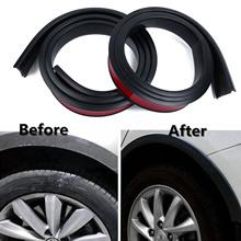 2x 150cm 3.8cm Rubber Car Rubber Car Wheel Arch Protection Moldings Mudguard Hot Rubber Black fitment for most cars 2pcs