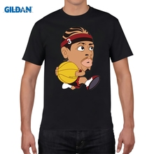 GILDAN designer t shirt New Fashion Cartoon Allen Iverson Men T Shirt Summer Mans Short Sleeve T-Shirt  Tees Shirts
