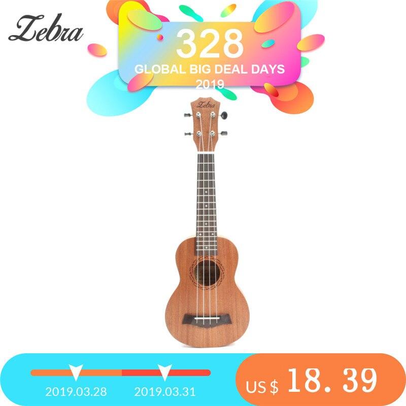 Cebra Primavera de 21 pulgadas 15 trastes de Ukulele Soprano guitarra Sapele Rosewood 4 cuerdas guitarra hawaiana instrumentos musicales