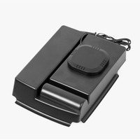1* Black 21.5*16.5cm Wireless QI Armrest Organizer Console Storage Box Case For Tesla Model S Model X Easy to install