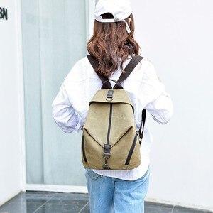 Image 3 - 2019 Kadın Tuval kızlar için sırt çantaları Kese Dos Okul Çantaları Için Kız Mochilas Casual Sırt Çantası seyahat omuz çantası Kadın Sırt Çantası